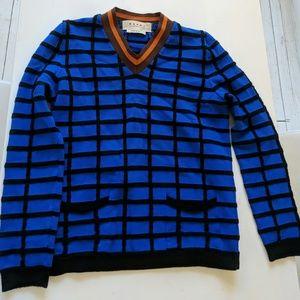 Marni bright blue grid Sweater
